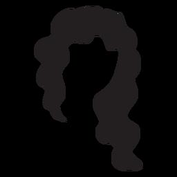 Silhueta de cabelo cortado assimétrico