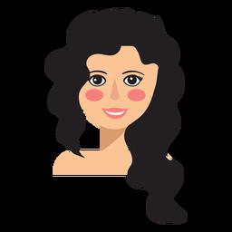 Avatar de mulher de cabelo cortado assimétrico
