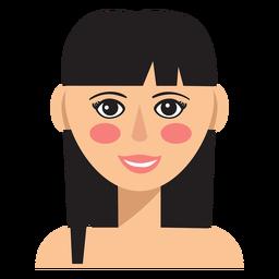 Bangs avatar de mulher de cabelo