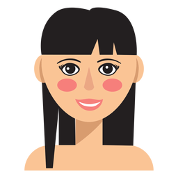 Bangs hair woman avatar