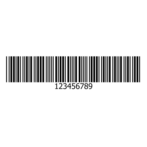 Barcode Aufkleber Design Transparent PNG