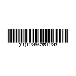 Bar code sticker template