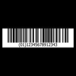 Barcode-Aufklebervorlage