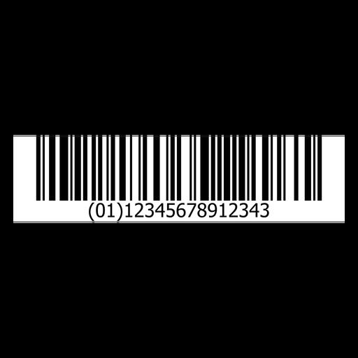 Bar code sticker template Transparent PNG