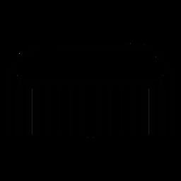 Ícone de pente de cabelo de barbeiro