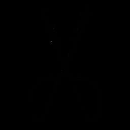 Icono de tijeras de pelo de peluquero