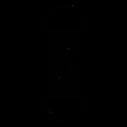 Friseurladen-Pole-Symbol