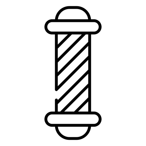 Ícone de poste de loja de barbeiro Transparent PNG