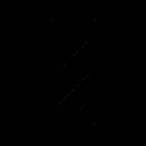 Barber shop pole icon Transparent PNG