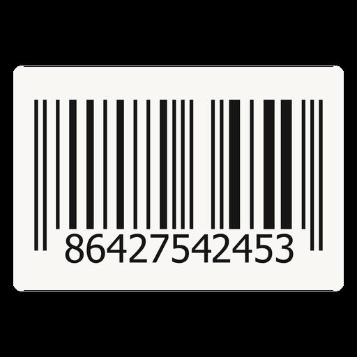Barcode design element Transparent PNG