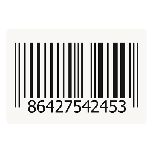 Elemento de design de código de barras Transparent PNG