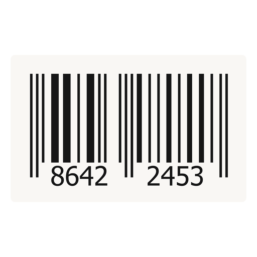 Barcode label design Transparent PNG
