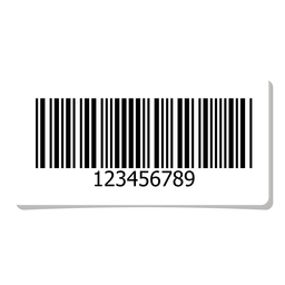 Barcode label design element