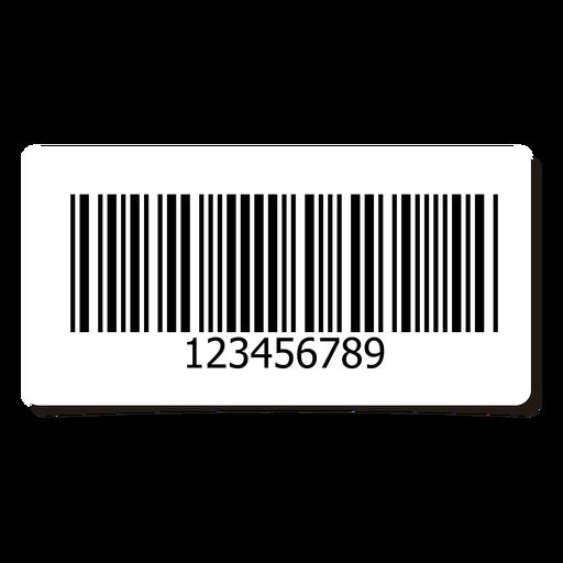Barcode label design element Transparent PNG