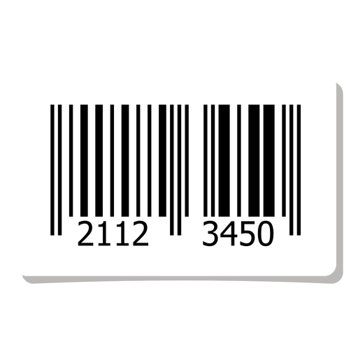 Barcode label element Transparent PNG