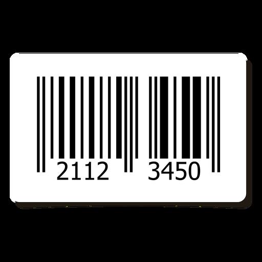 Elemento de etiqueta de código de barras Transparent PNG