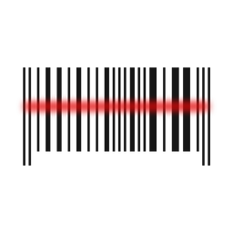 Exploración de línea roja de código de barras