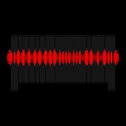 Varredura de linha vermelha de código de barras