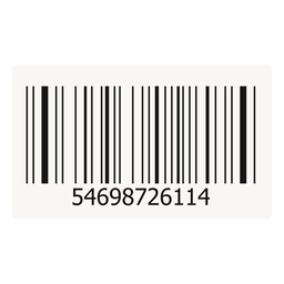 Barcode Aufkleber Design