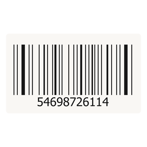 Barcode sticker design Transparent PNG
