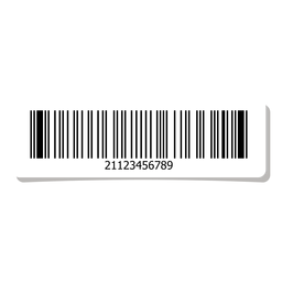 Barcode sticker design element