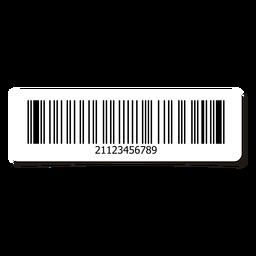 Elemento de design de etiqueta de código de barras