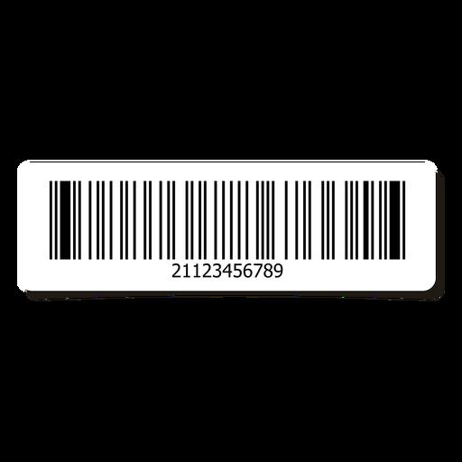 Barcode sticker design element Transparent PNG
