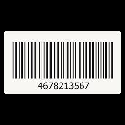 Barcode-Aufkleberelement
