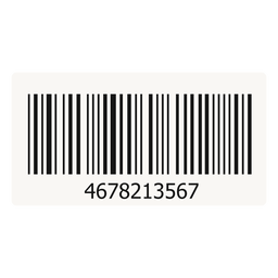 Barcode sticker element