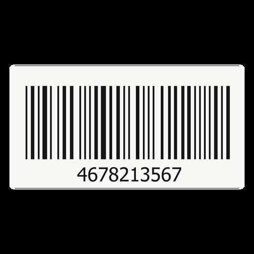 Barcode sticker element Transparent PNG
