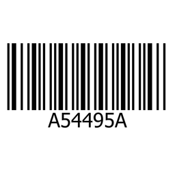 Barcode sticker simple element
