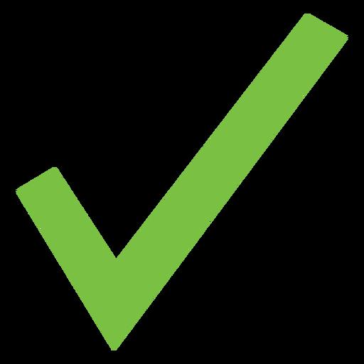 Ícone de marca de verificação básica Transparent PNG