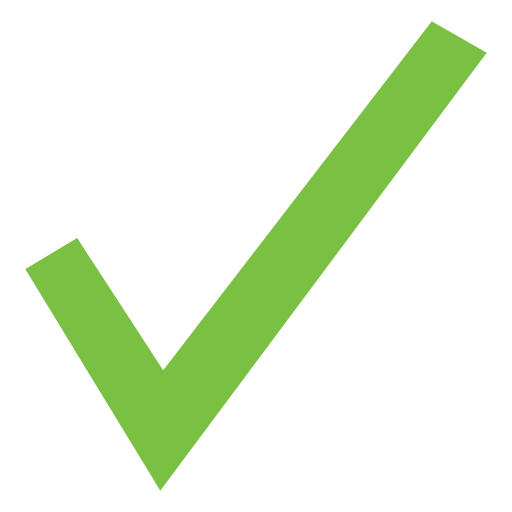 Basic check mark icon Transparent PNG