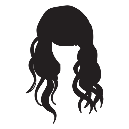 Beach waves hair flat icon Transparent PNG