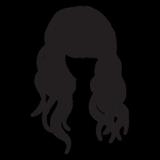 Silhueta de cabelo ondulado de praia Transparent PNG