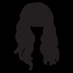 Icono de pelo ondulado de playa