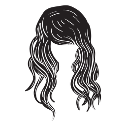 Strand Wellen Haar Symbol