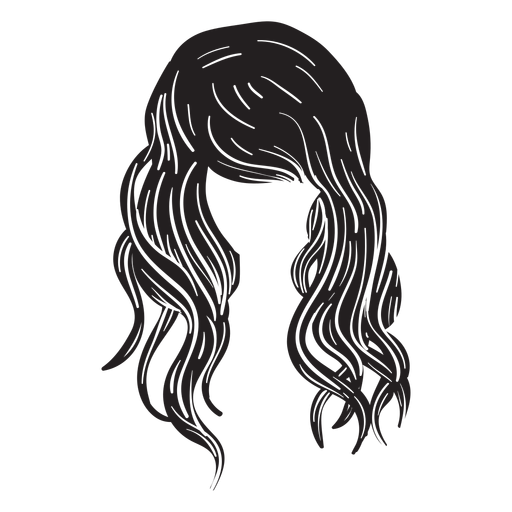 Beach waves hair icon Transparent PNG