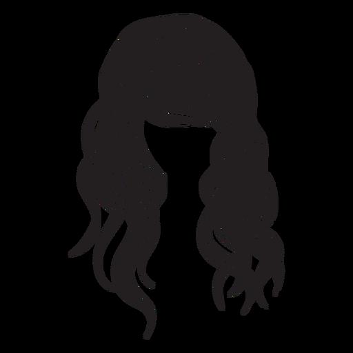 Beach wavy hair icon Transparent PNG