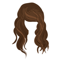 Beach waves hair illustration
