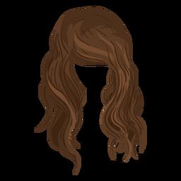 Strand bewegt Haarillustration wellenartig