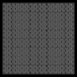 Grade quadrada preto e branco