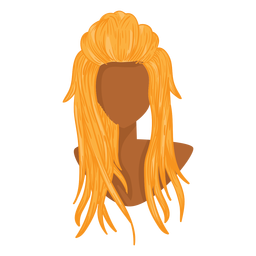 Blonde woman hair icon