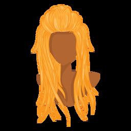 Icono de pelo de mujer rubia