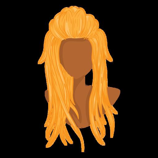Icono de pelo de mujer rubia Transparent PNG