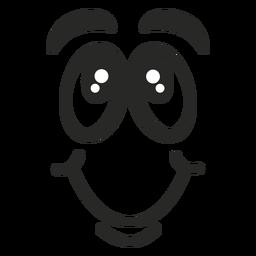 Errötendes Emoticon-Gesicht