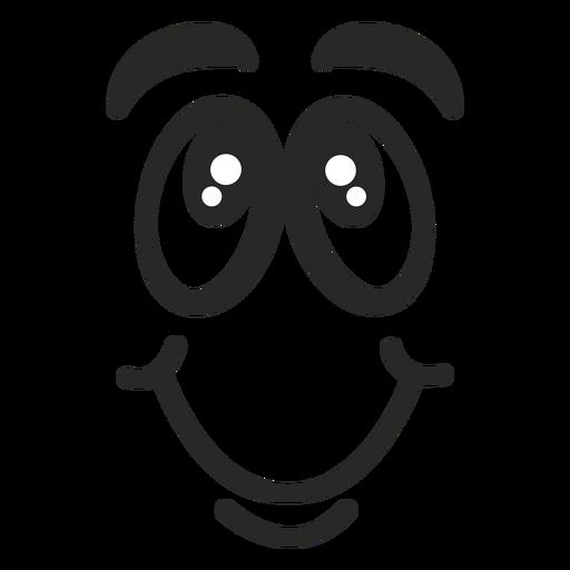 Blushing emoticon face Transparent PNG
