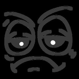 Dibujos animados de cara de emoticon aburrido