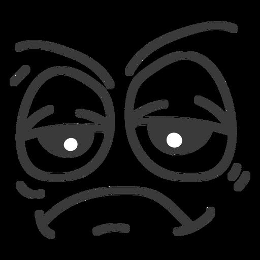 Bored emoticon face cartoon