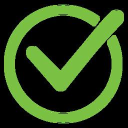 Ícone do círculo de marca de seleção